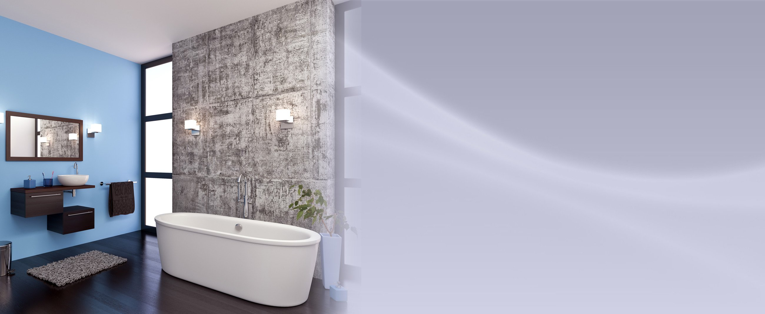 Bathroom painting services protegrity painting contractor - Interior exterior painting services set ...