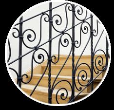 Painting Residential stairway Railing and Pool Railings