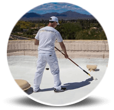 Protegrity Painting offer Professional roof coatings, elastomeric paint and white roof coating services